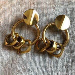 Lizzie Fortunato Jewelry - LIZZIE FORTUNATO Retro Link Drop Gold Tone Earring